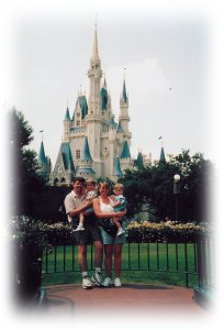 The family at Magic Kingdom